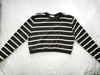 Stripes Sweater Crop Top