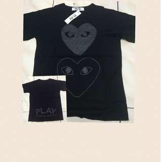 Play double heart Black