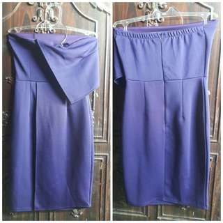 Dress biru midi