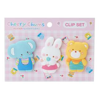 Japan Sanrio Cheery Chums Rubber Clip Set (Friends)