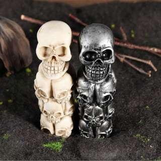 Universal Car Skull Head Faces Manual Transmission Gear Shift Knob Shifter Lever