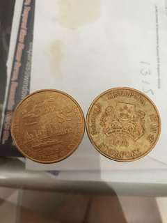 $5 old 25years sg anniversary coin