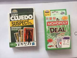 Monopoly and Cluedo Card Game
