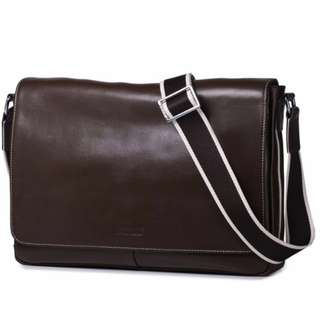 Sammons Genuine Leather Messenger Bag