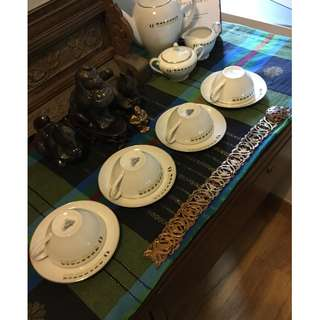 Overseas Union Bank Vintage Tea Set