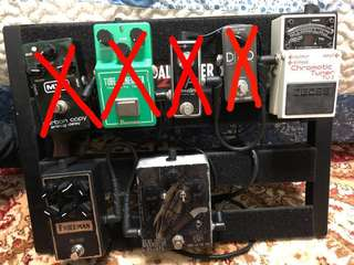 MXR / IBANEZ / XOTIC USA / TC ELECTRONIC /  BOSS / FRIEDMAN / PROTONE / PEDALTRAIN JUNIOR- PEDALS