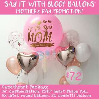 Mother's Day Customised/Personalised Balloon Promotion