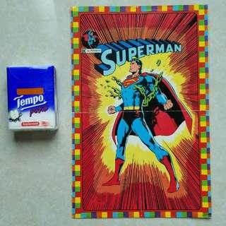 全新未用過經典Superman大貼紙
