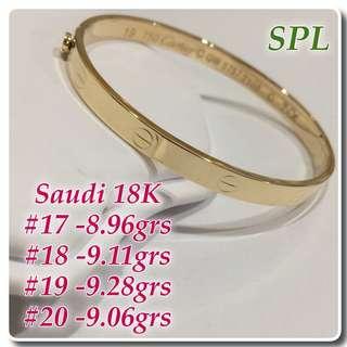 18k Saudi Gold Cartier 19cm