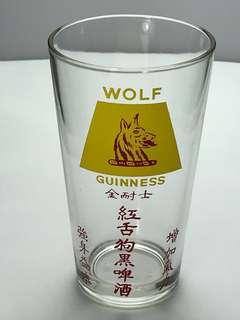GUINNESS WOLF GLASS