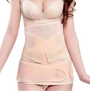 Cooling Body Slimming Shaper Postpartum Recovery Maternity Belt of 3 Pcs (Beige)
