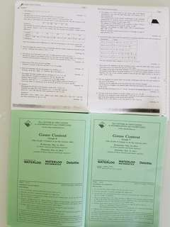 Gauss Contest Grade 7&8 Mathematical Competition Questions & Answers