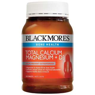 Blackmores Total Calcium & Magnesium + D3 Tablets