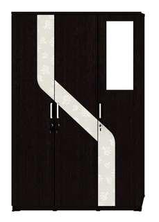 Lemari Pakaian 3 Pintu Kaca Luar Activ Spin LP 332