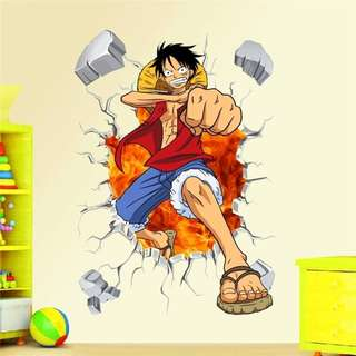 Wallpaper Wall Sticker ONE PIECE LUFFY Stickers Promo Jumbo Poster