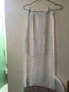 9成新白色lace斯文裙