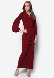 Lubna Loose Red Dress