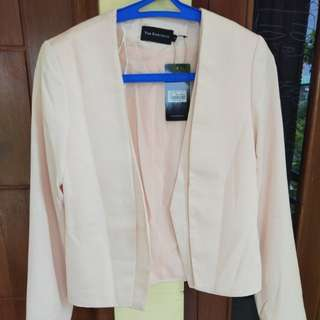 blazer wanita pink the executive