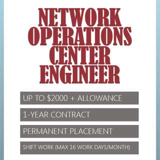 Network Operations Center (NOC) Engineer