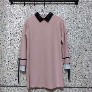 🚚 韓版粉色洋裝