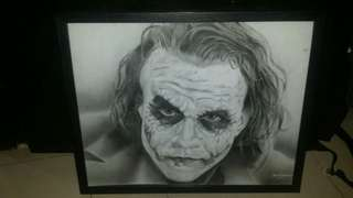 Joker (Heath Ledger) portrait.