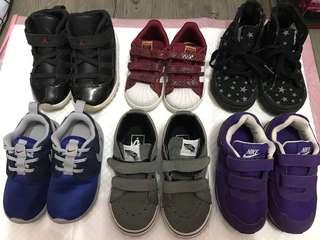 adidas jordon nike vans 二手童裝鞋 50至250$
