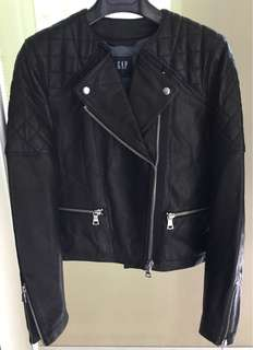 Gap ladies biker leather jacket