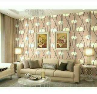 Wallpaper dinding uk 45cm x 10 meter