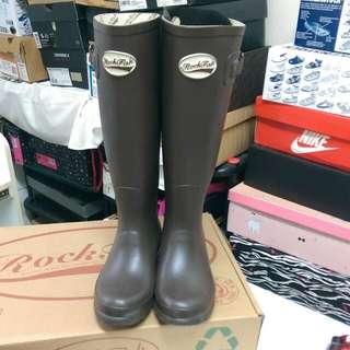 🚚 Rockfish咖啡色雨靴(求現降價1500
