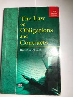 The Law on Obligations and Contract