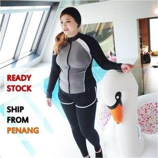 4 Pieces 💜Plus Size Swimming Suit/Costume Muslimah Swimwear/Diving Suit