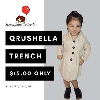 Trenchcoat dress (for ages 2 to 5)