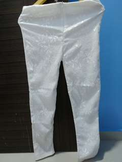 White lace pants stretchy