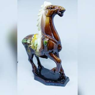 Brown porcelain horse