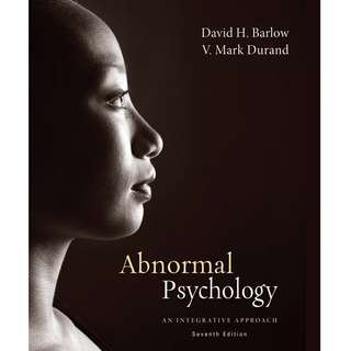 Abnormal Psychology An Integrative Approach 7th Seventh Edition by David H. Barlow, V. Mark Durand - Cengage Learning