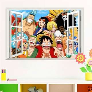 Wallpaper Wall Sticker ONE PIECE LUFFY Promo Jumbo Poster Dinding Art