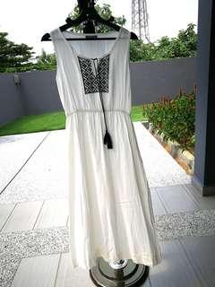 Maxi Dress with Tassels