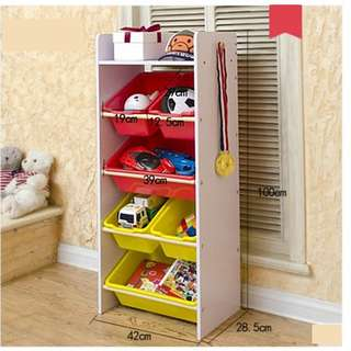 Children ALL-IN-ONE toy and books organizer rack shelf