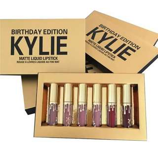 Birthday Gold Lipgloss 6 Color Kyliee Matte 1 Pack