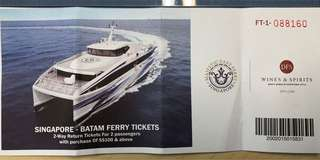 2 pairs of Return Tickets to Batam by Majesty!