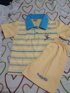 Kids Polo Shirt Terno (fits to 1-2yrs old)