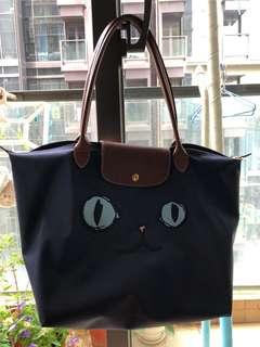 Longchamp 最新貓臉 Tote Bag