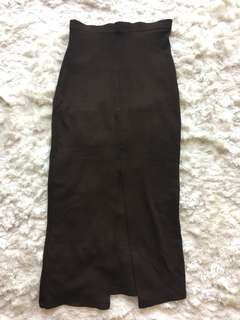 Morgan de Toi Dark Brown Pencil Skirt