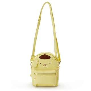 Japan Sanrio Pompompurin 2 Way Mini Backpack Shoulder Bag