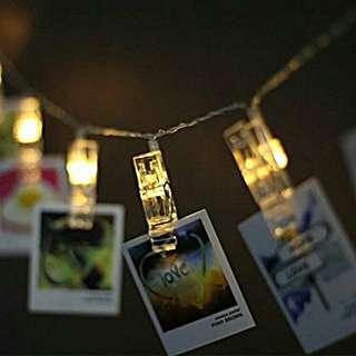 Jepit Foto Tumblr Lamp Akrilik Transparan
