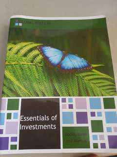 Essentials of Investment (9/10 condition)