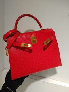 Hermes kelly 28 ostrich