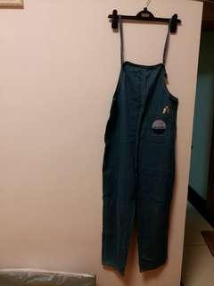 日系牛仔吊帶褲
