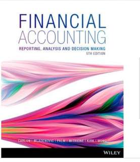 financial accounting reporting analysis and decision making 5th edition singapore