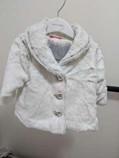 Baby girl jacket faux fur